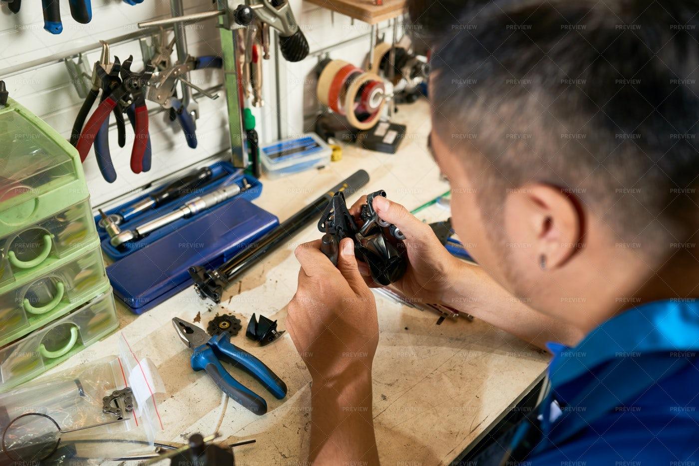 Man Working In Workshop: Stock Photos