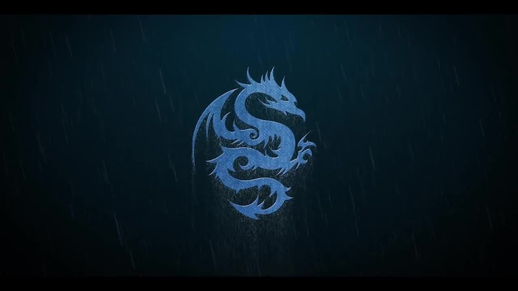 Thunderstorm Rain Metal Logo: After Effects Templates