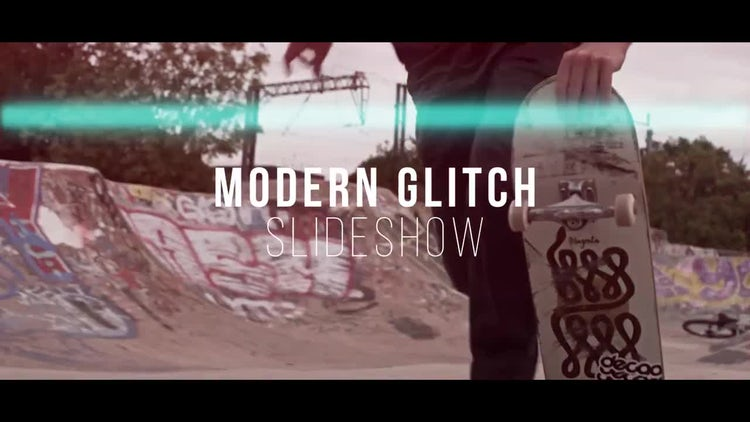 Dynamic Glitch Slideshow: After Effects Templates
