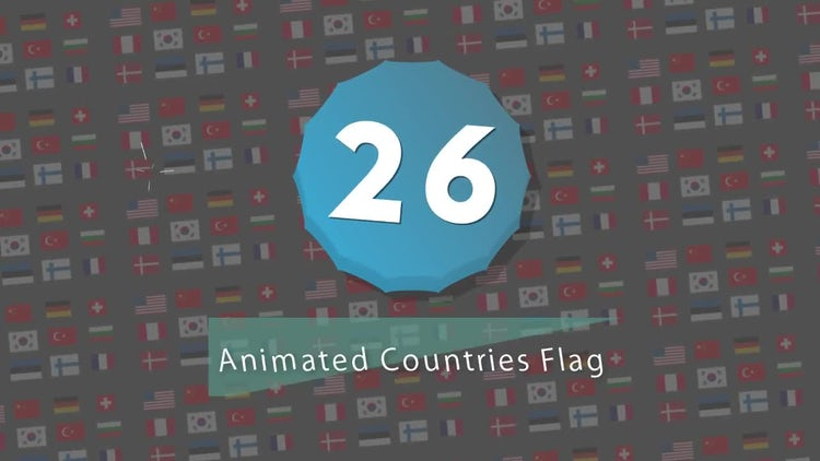 Infographic  Presets : 26 Countries Flag V1: After Effects Templates
