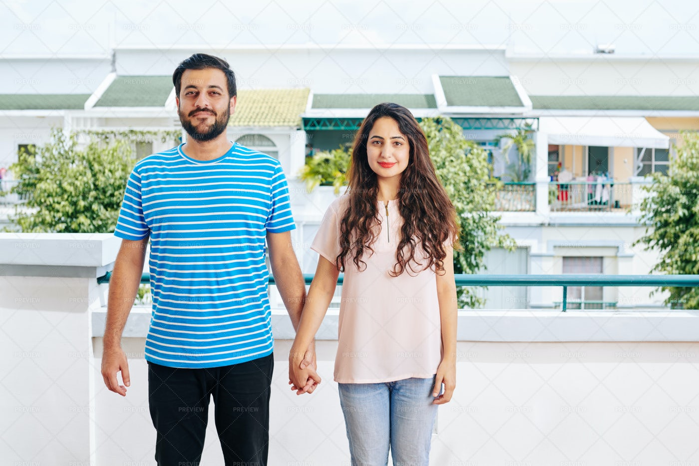 Happy Young Indian Couple: Stock Photos