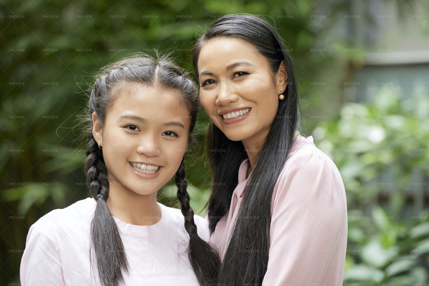 Mother And Daughter Outdoors: Stock Photos