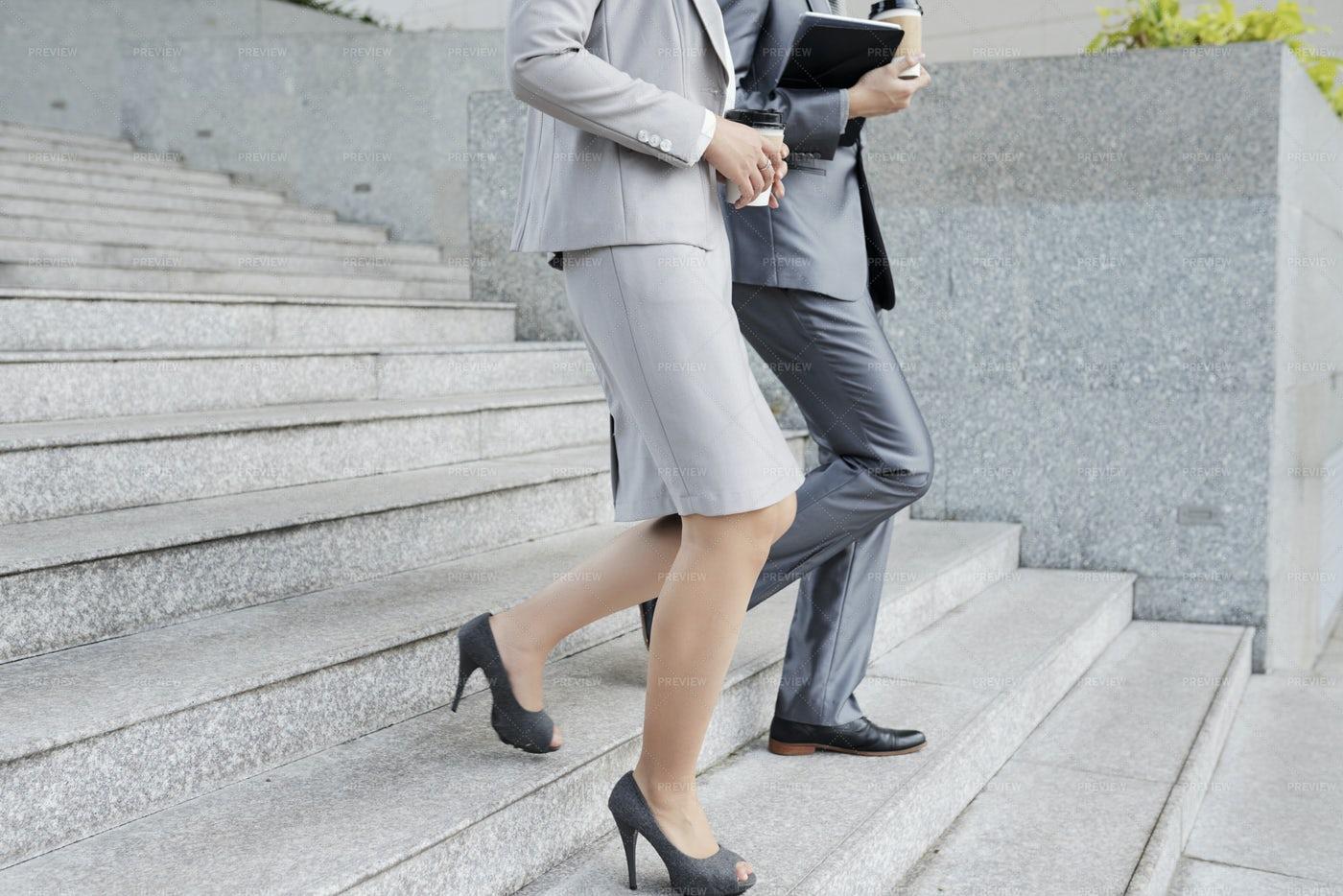 Entrepreneurs Walking Outdoors: Stock Photos