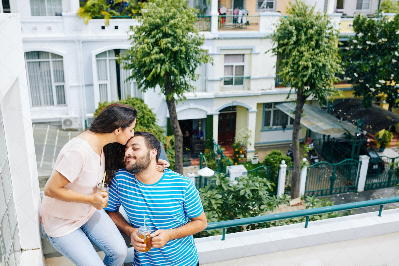 Indian Couple Living In Small Town: Stock Photos