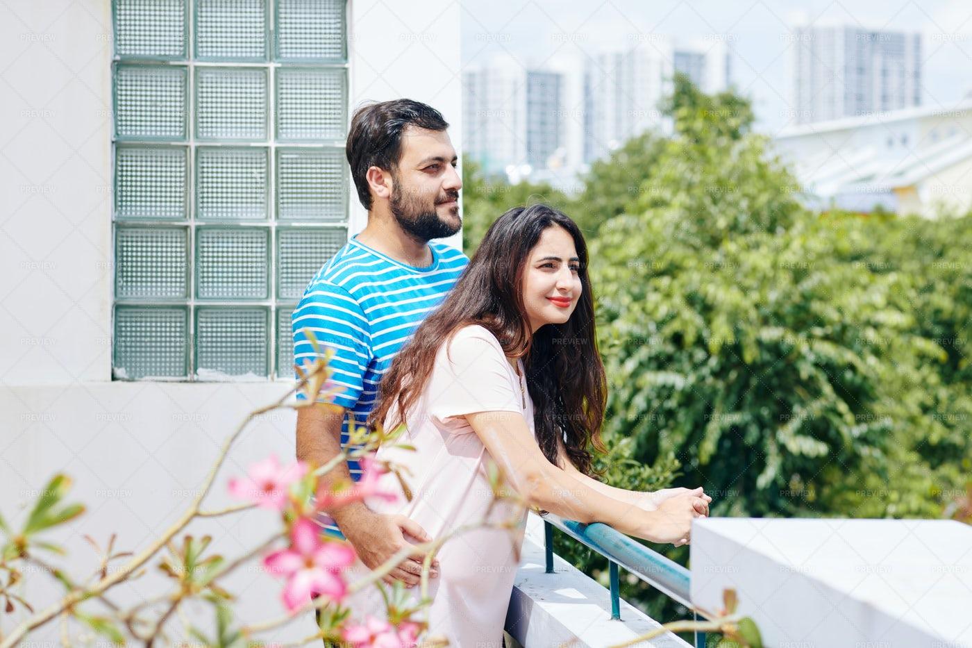 Couple Enjoying Beautiful View: Stock Photos