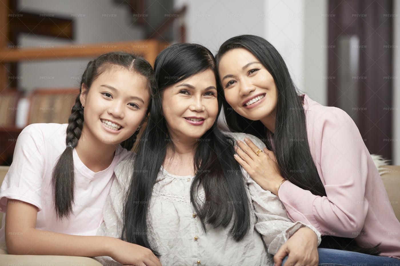 Family Generation Portrait: Stock Photos