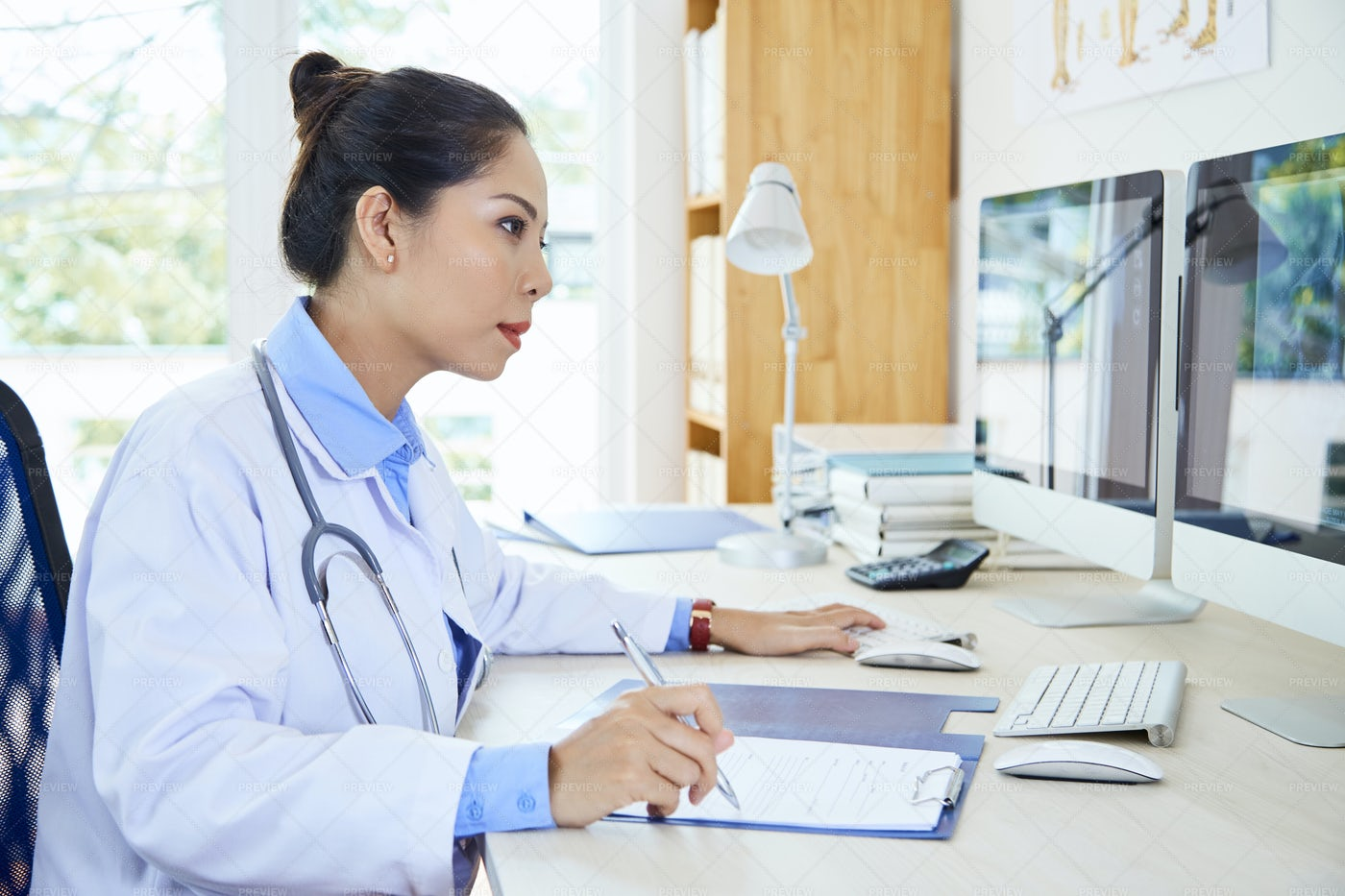 Medical Specialist Working With: Stock Photos