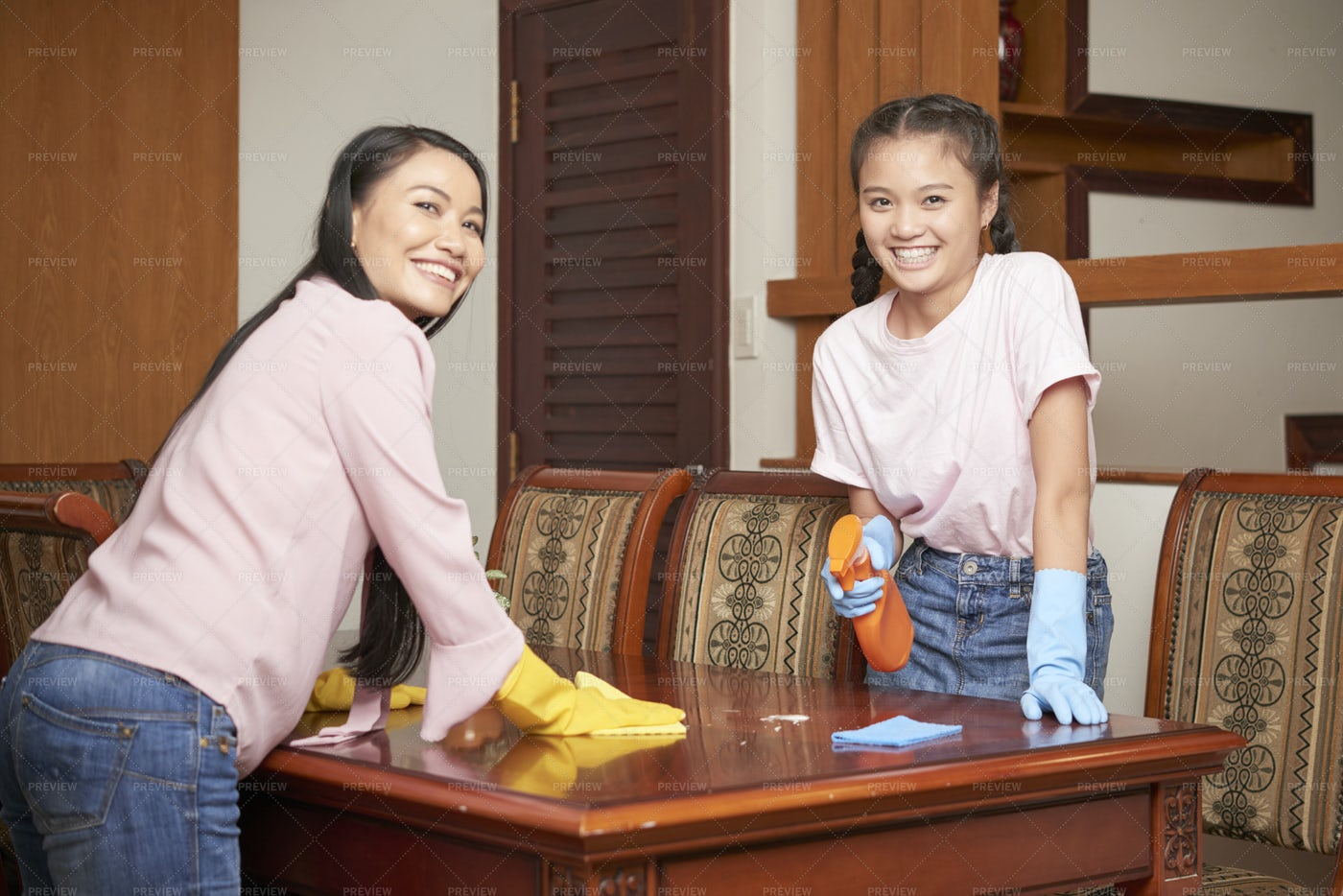 Housecleaning At Home: Stock Photos