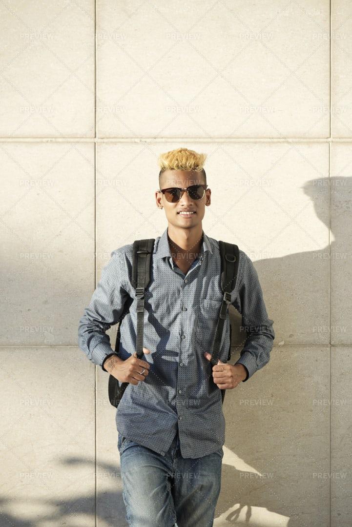 Positive University Student: Stock Photos