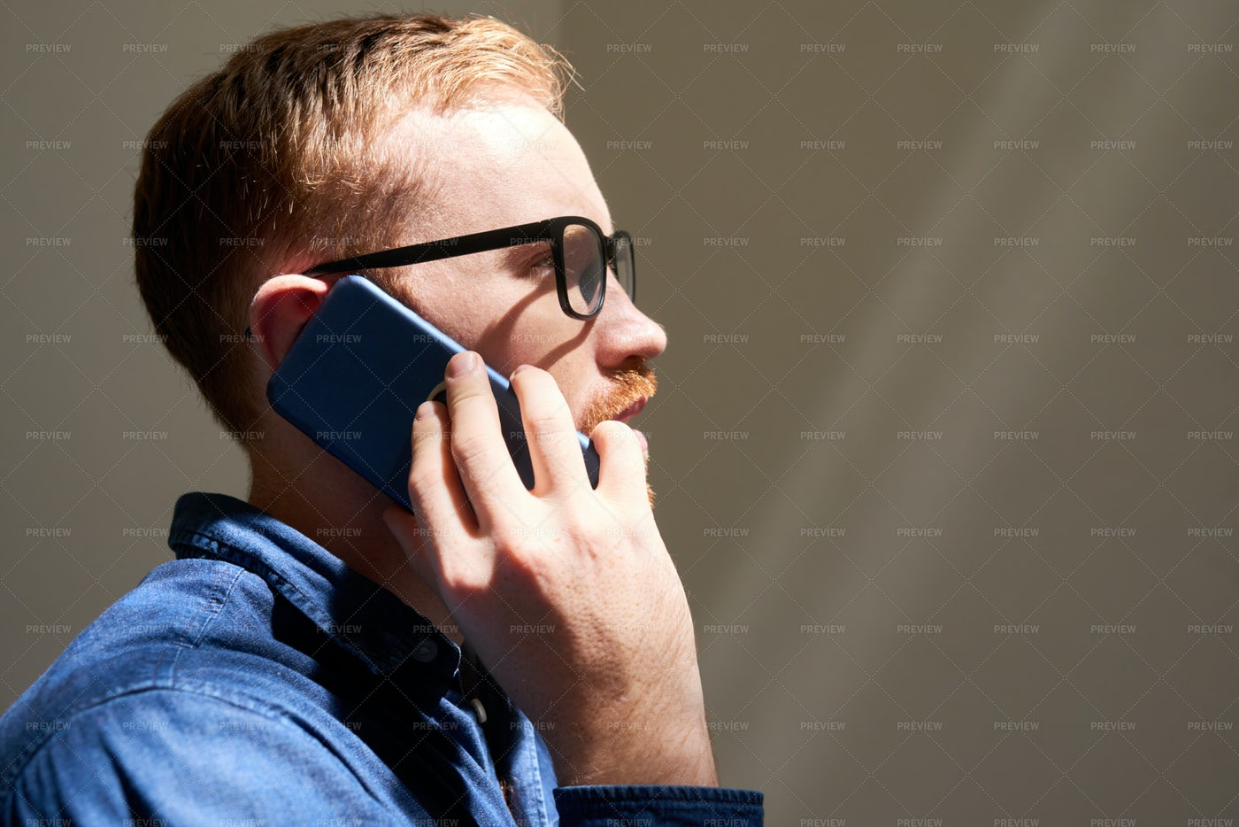 Man Talking On Mobile Phone: Stock Photos