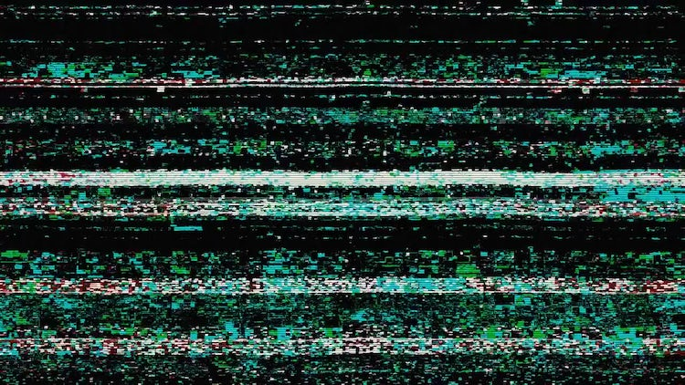 TV Noise Background: Stock Motion Graphics