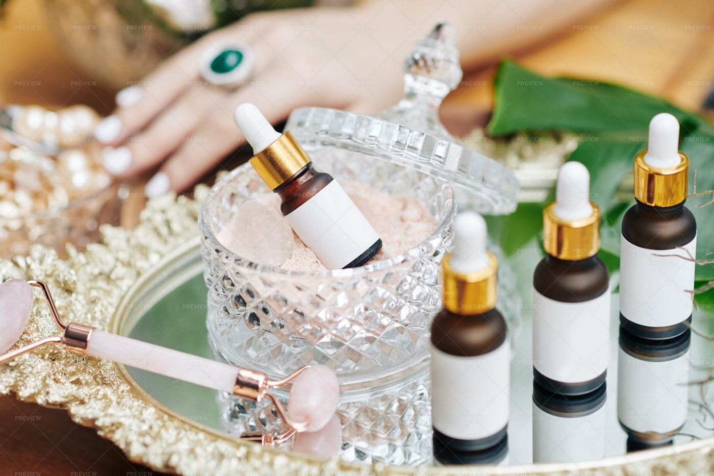 Essences With Pearl Powder: Stock Photos