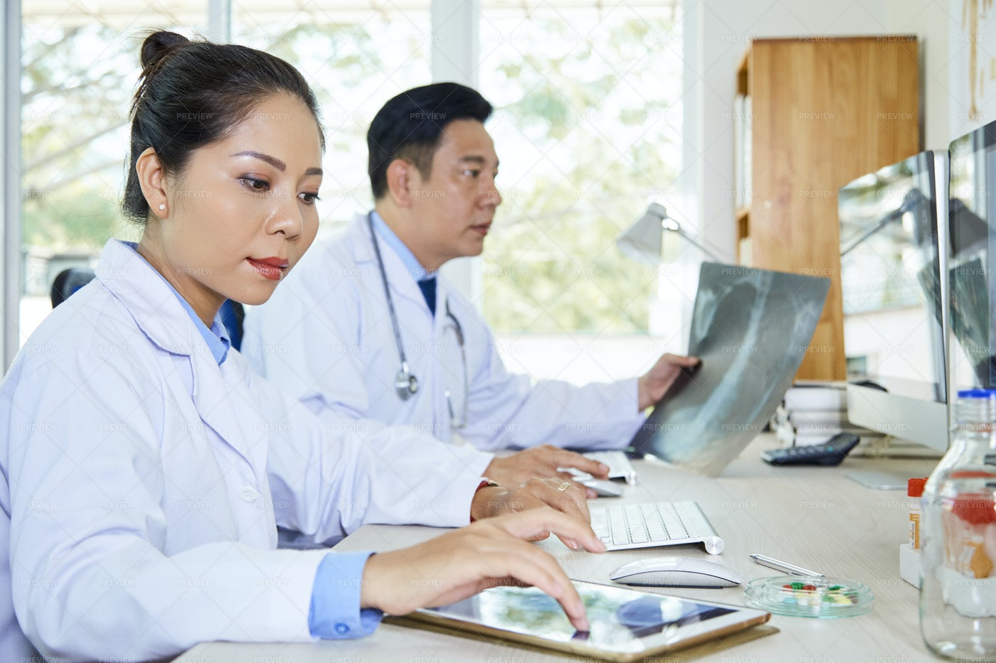 People Working At Laboratory: Stock Photos