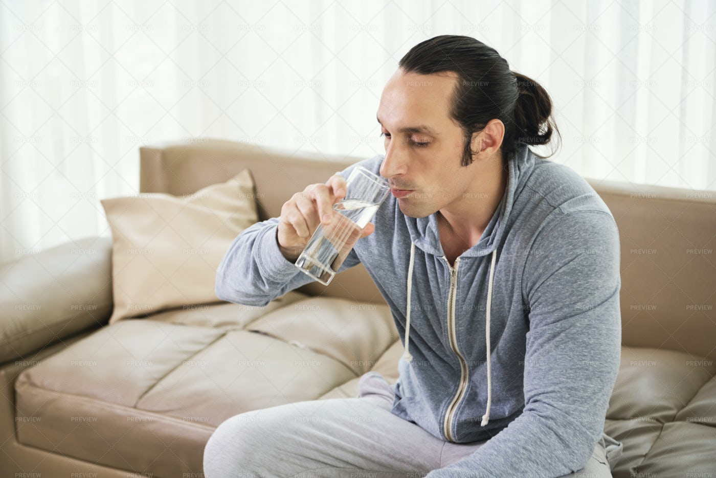 Man Drinking Water: Stock Photos