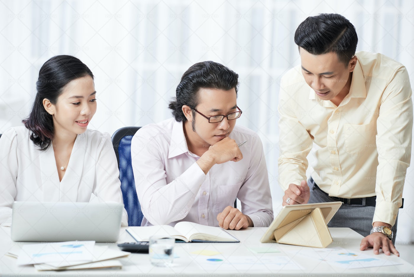 Business People Working In Team At: Stock Photos