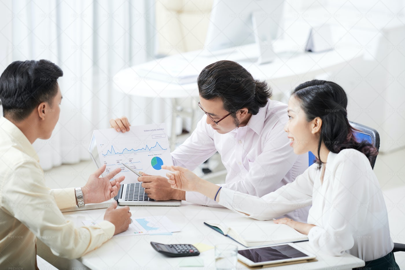 Business People Working With Financial: Stock Photos