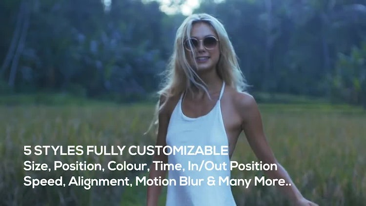 Video Caption - Text Overlay: Motion Graphics Templates