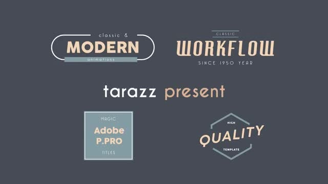 7 Titles: Motion Graphics Templates