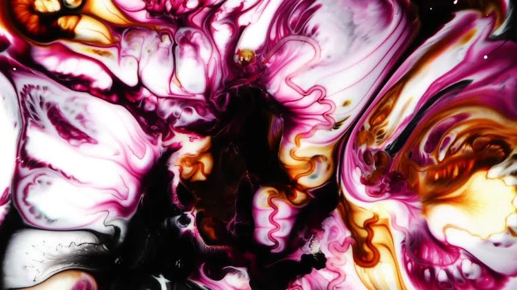 Abstract Colorful Ink 5: Stock Video