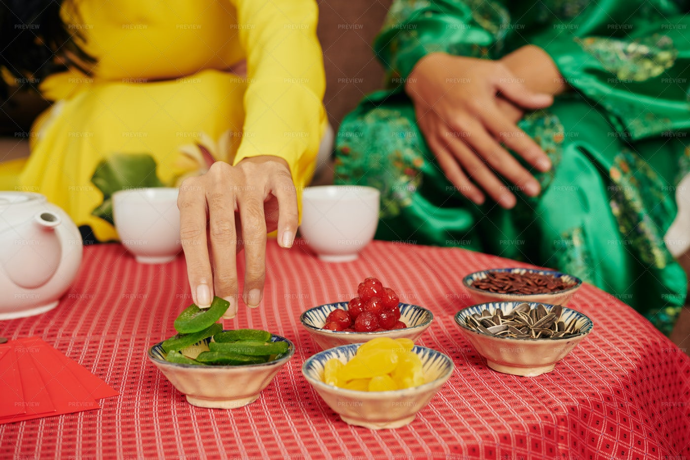 Tea With Dried Fruies And Berries: Stock Photos