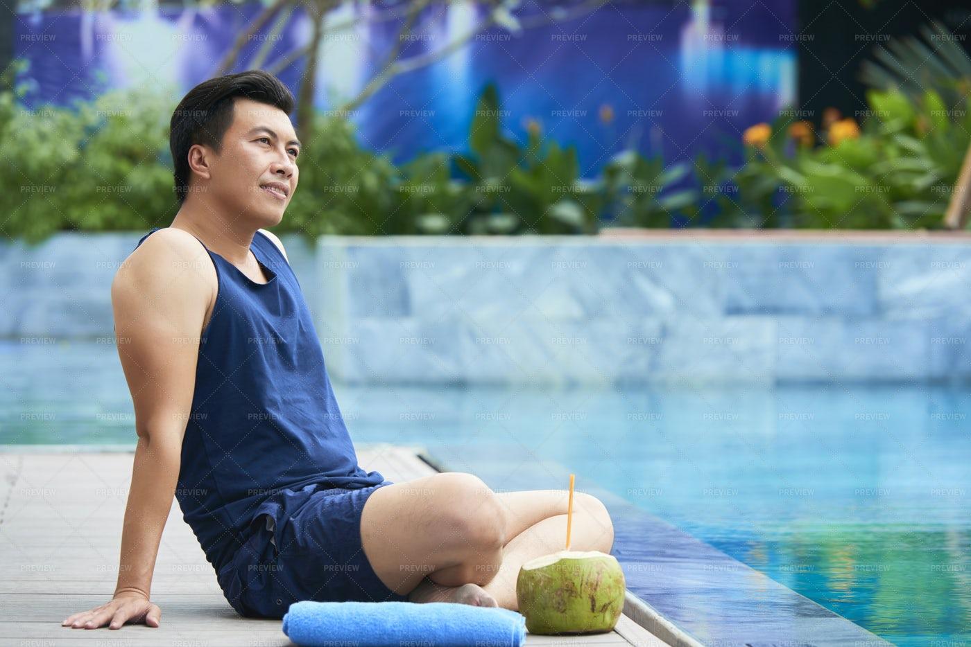 Young Man At Resort: Stock Photos