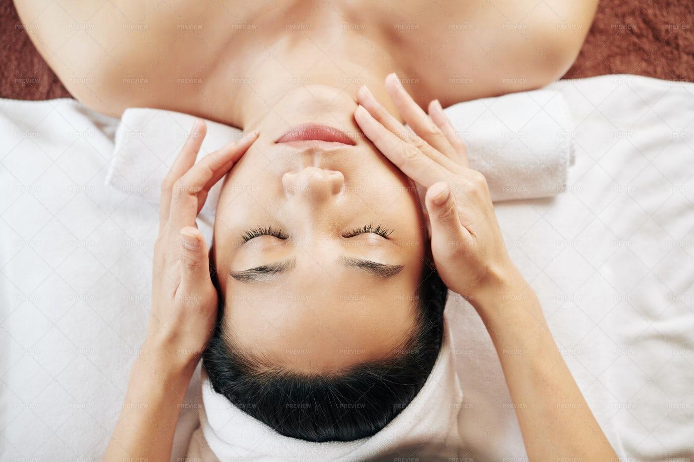 Spa Face Massage: Stock Photos