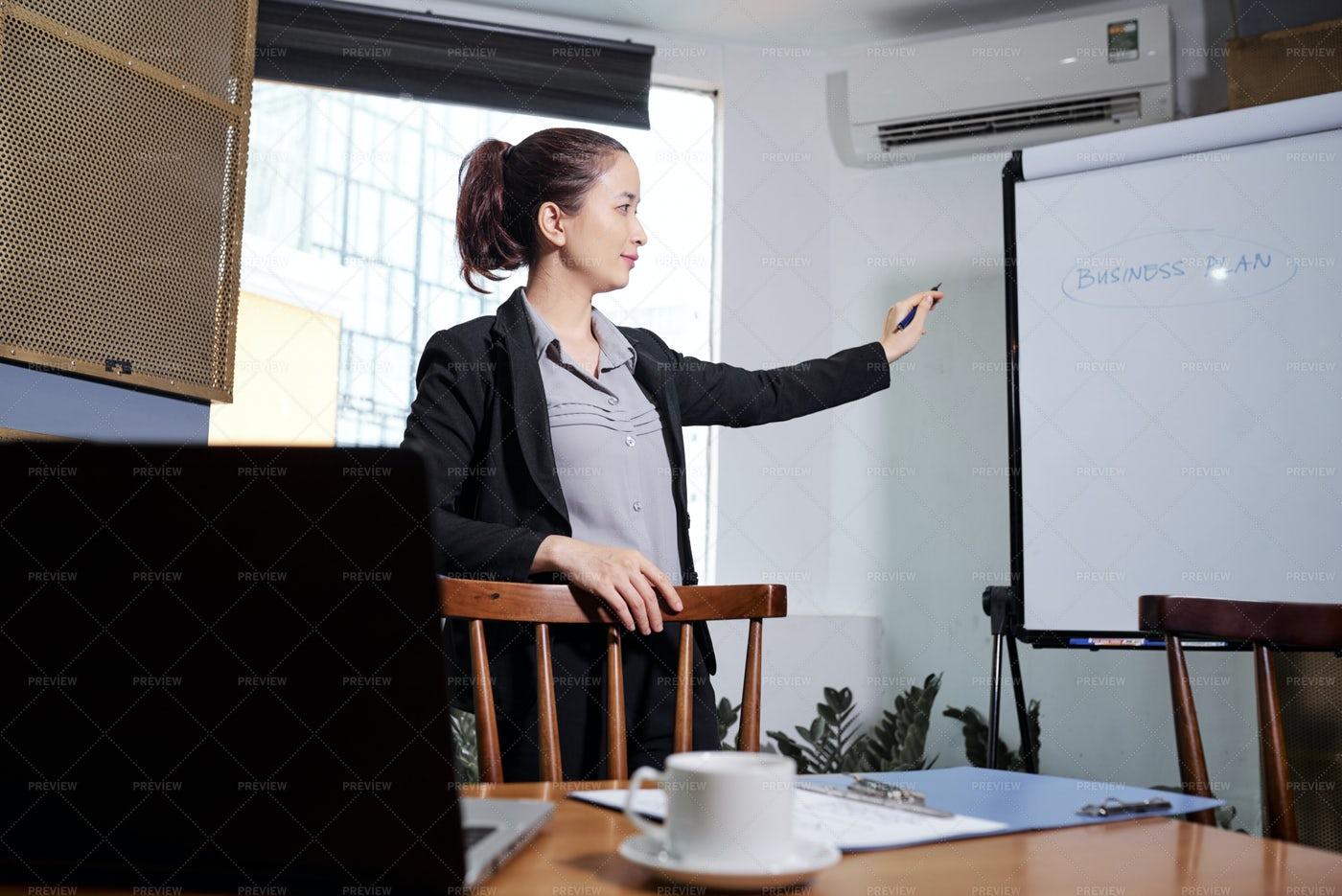 Businesswoman Planning Work: Stock Photos