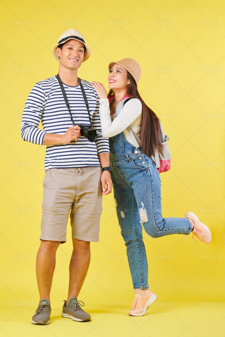 Travelers On Vacation: Stock Photos