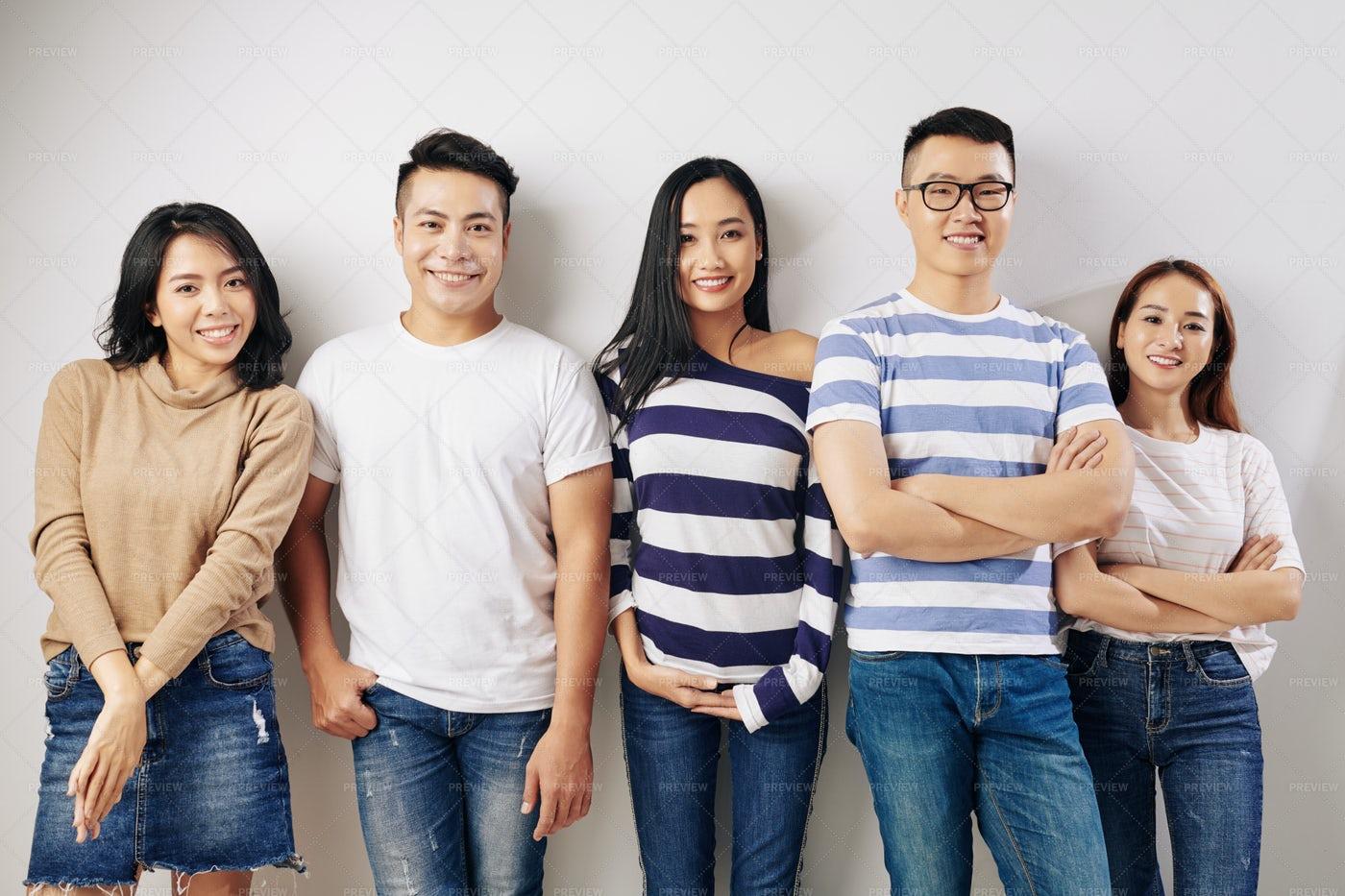 Confident Happy University Students: Stock Photos