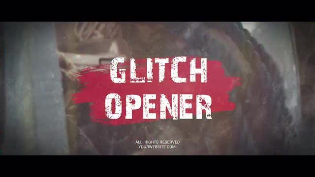 Vintage Glitch Promo: After Effects Templates