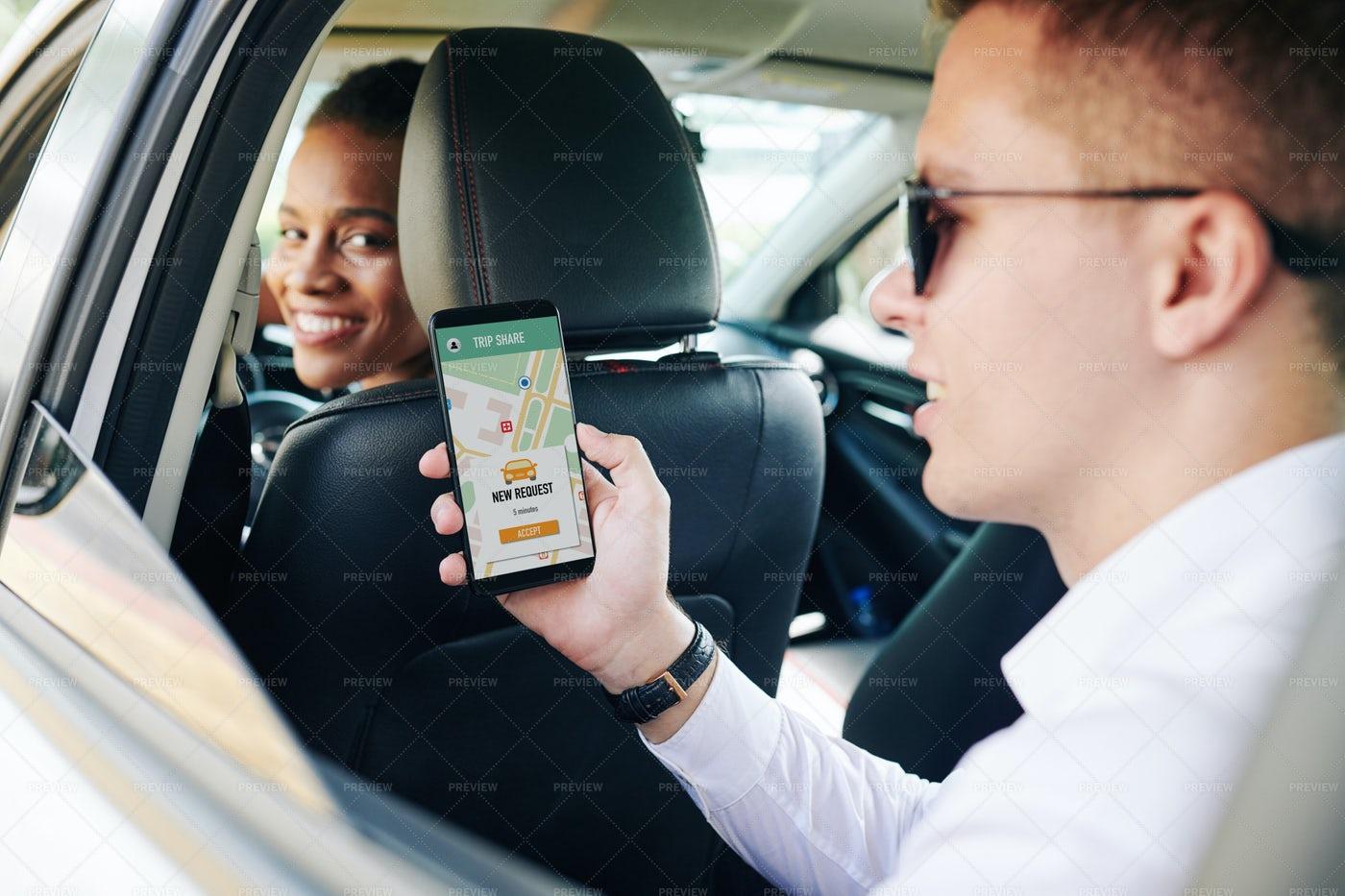 People Using Car Sharing: Stock Photos