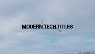 Modern Tech Titles: After Effects Templates