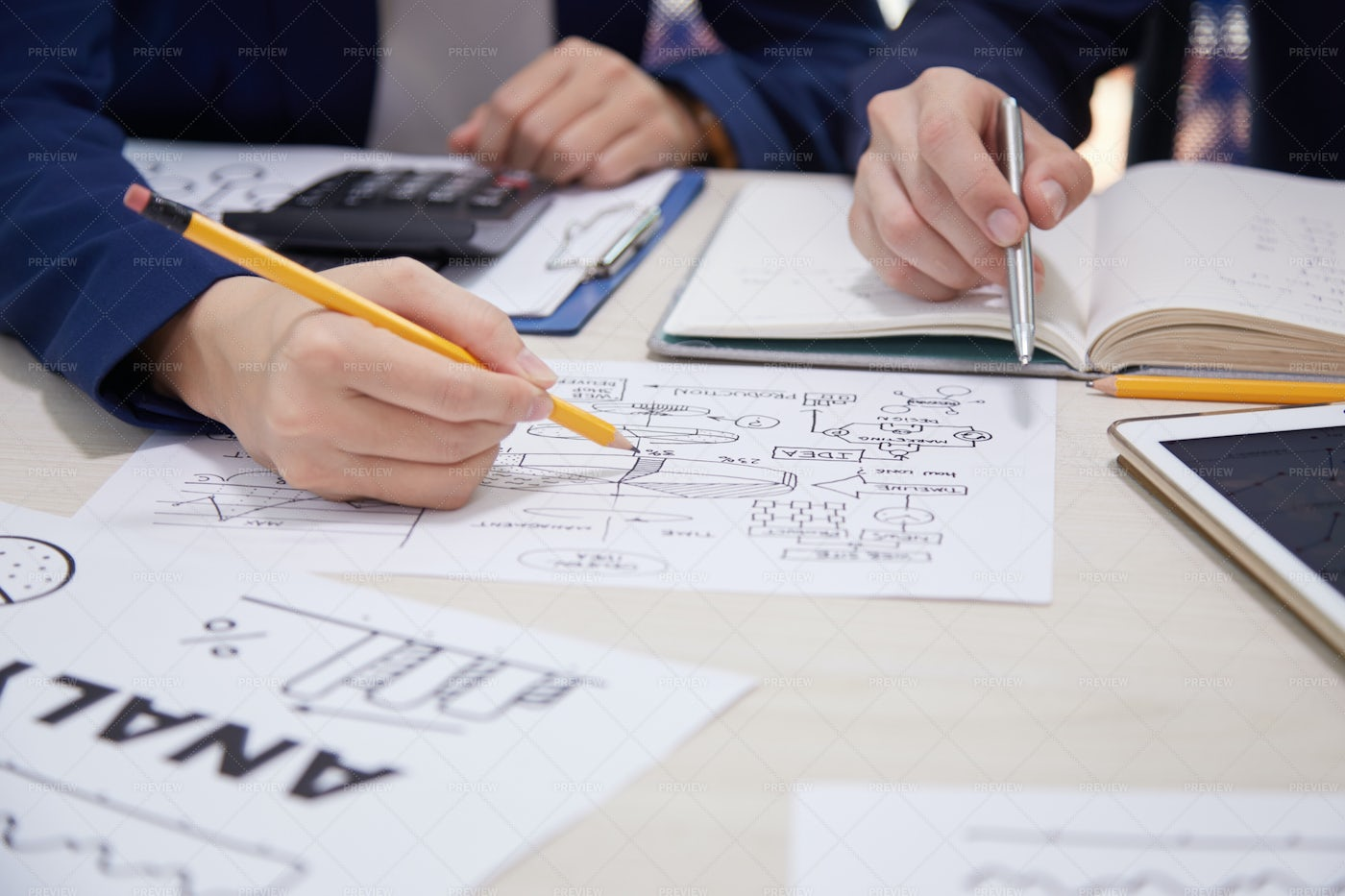 Business People Creating Business Plan: Stock Photos