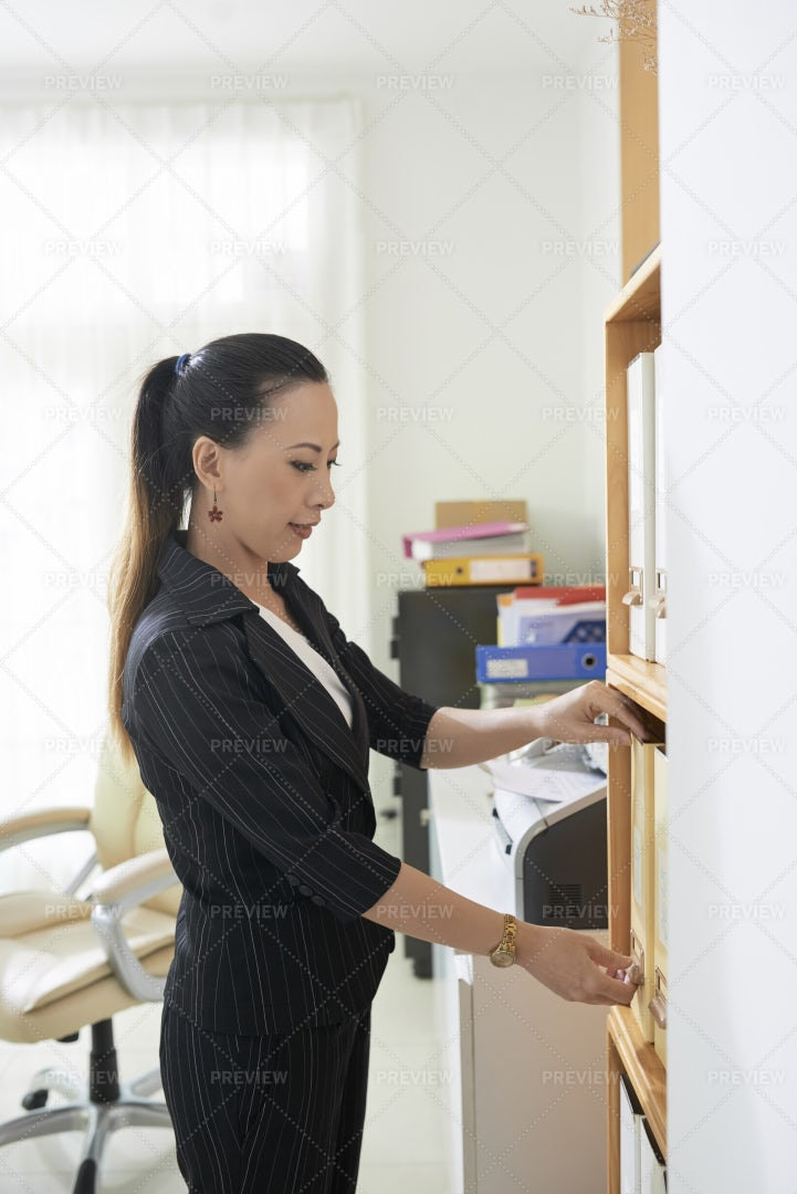Businesswoman Working With: Stock Photos
