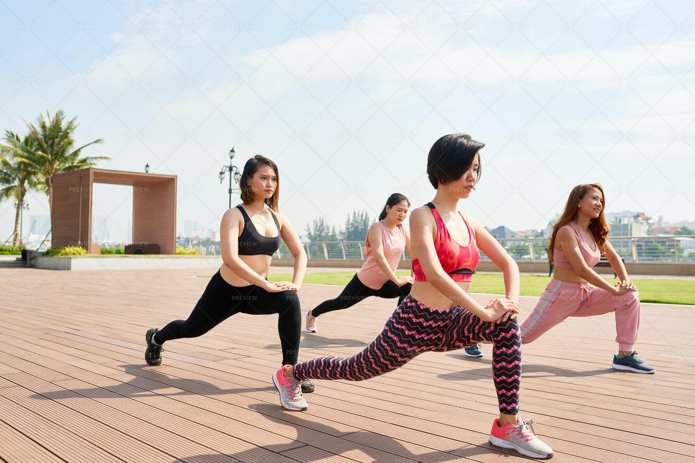 Sportive Woman Doing Yoga Practice: Stock Photos