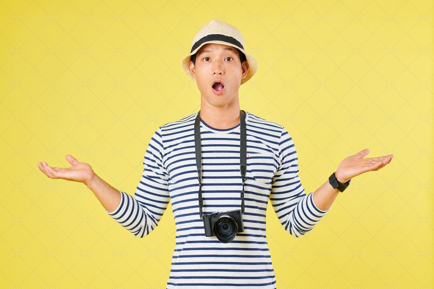 Shocked Tourist: Stock Photos