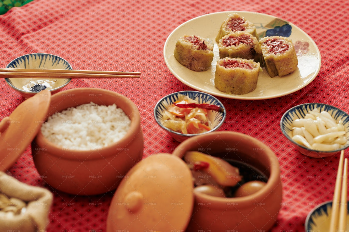 Lunar Year Celebration Dinner: Stock Photos