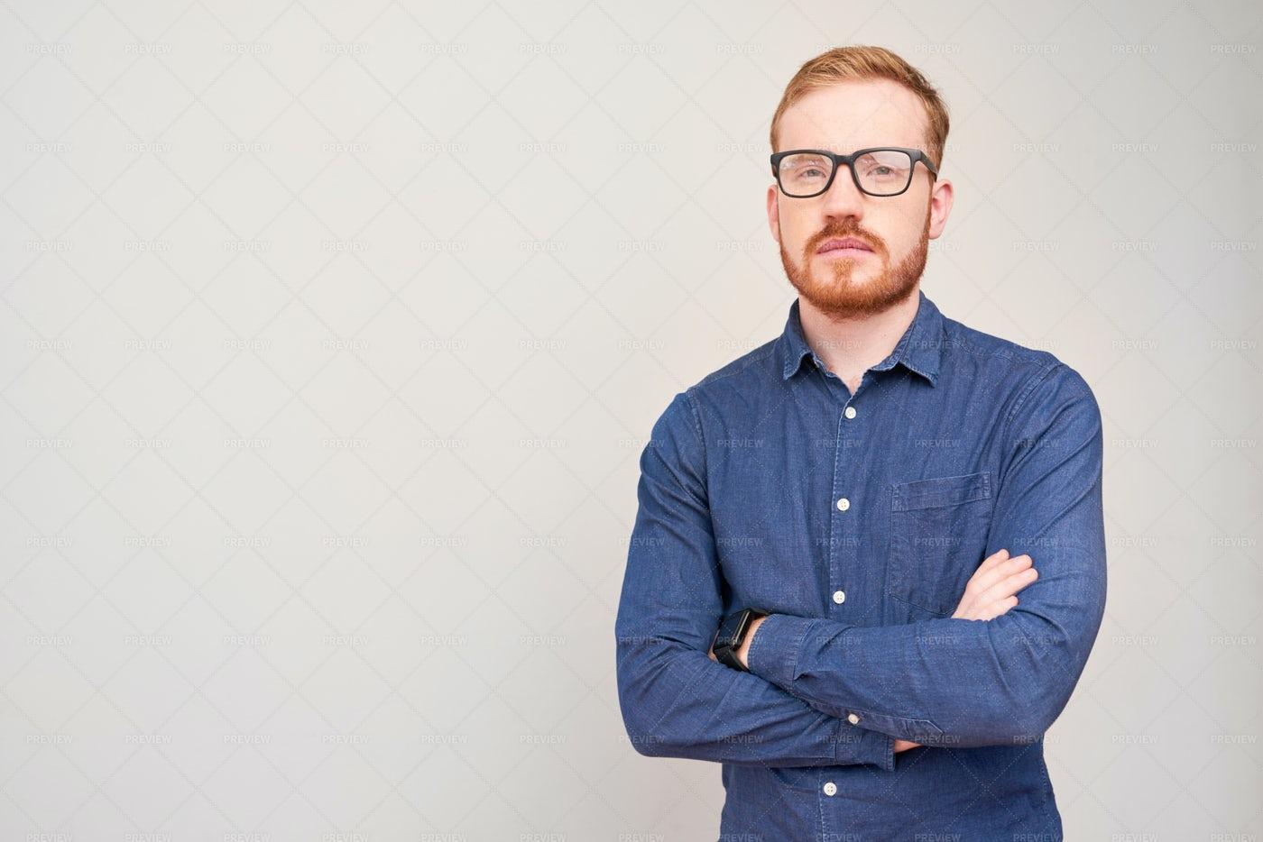 Portrait Of Confident Man: Stock Photos