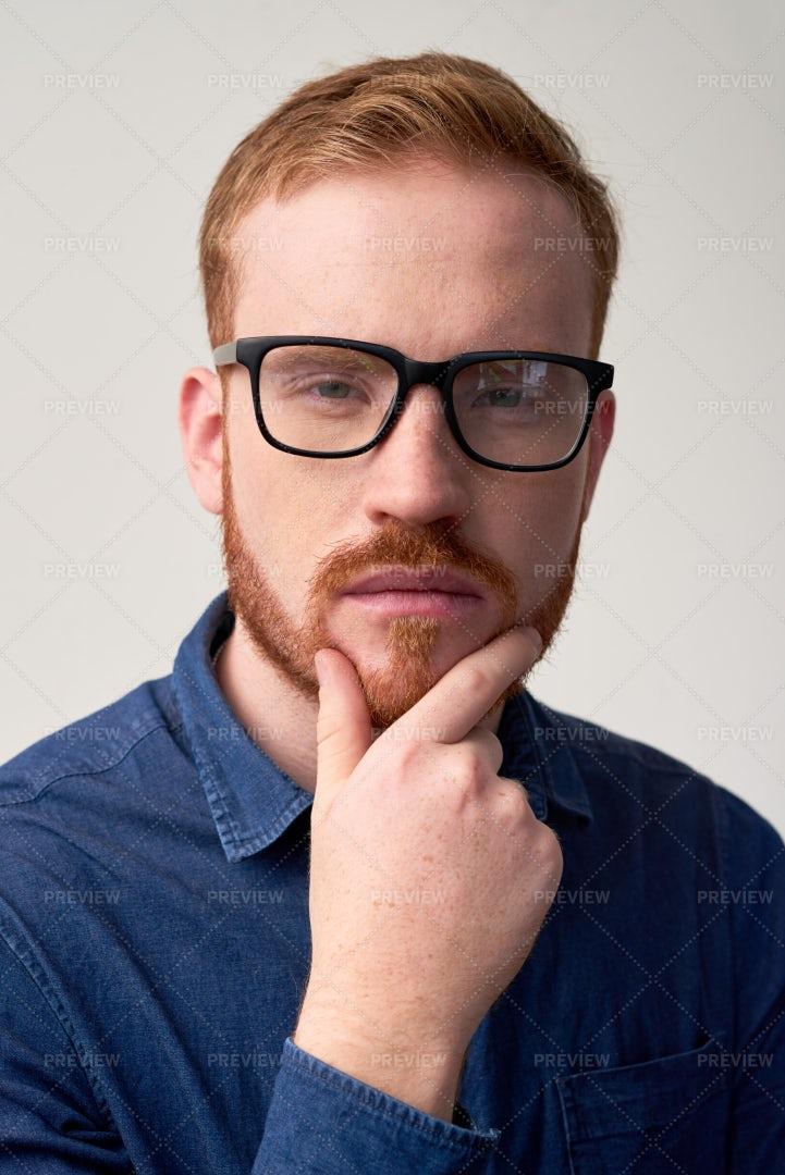 Suspicious Young Man: Stock Photos