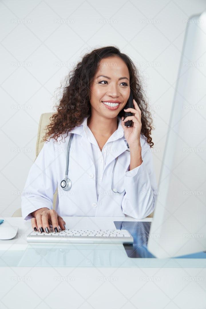 Cheerful Female Doctor: Stock Photos