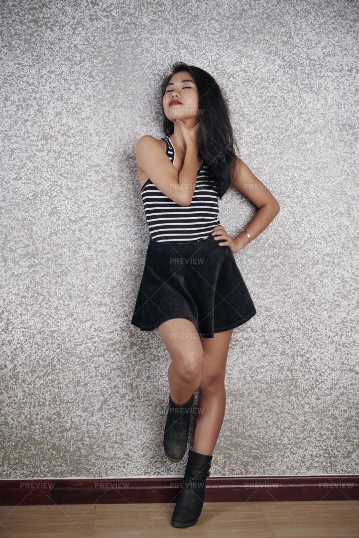 Elegant Lady In Skirt: Stock Photos