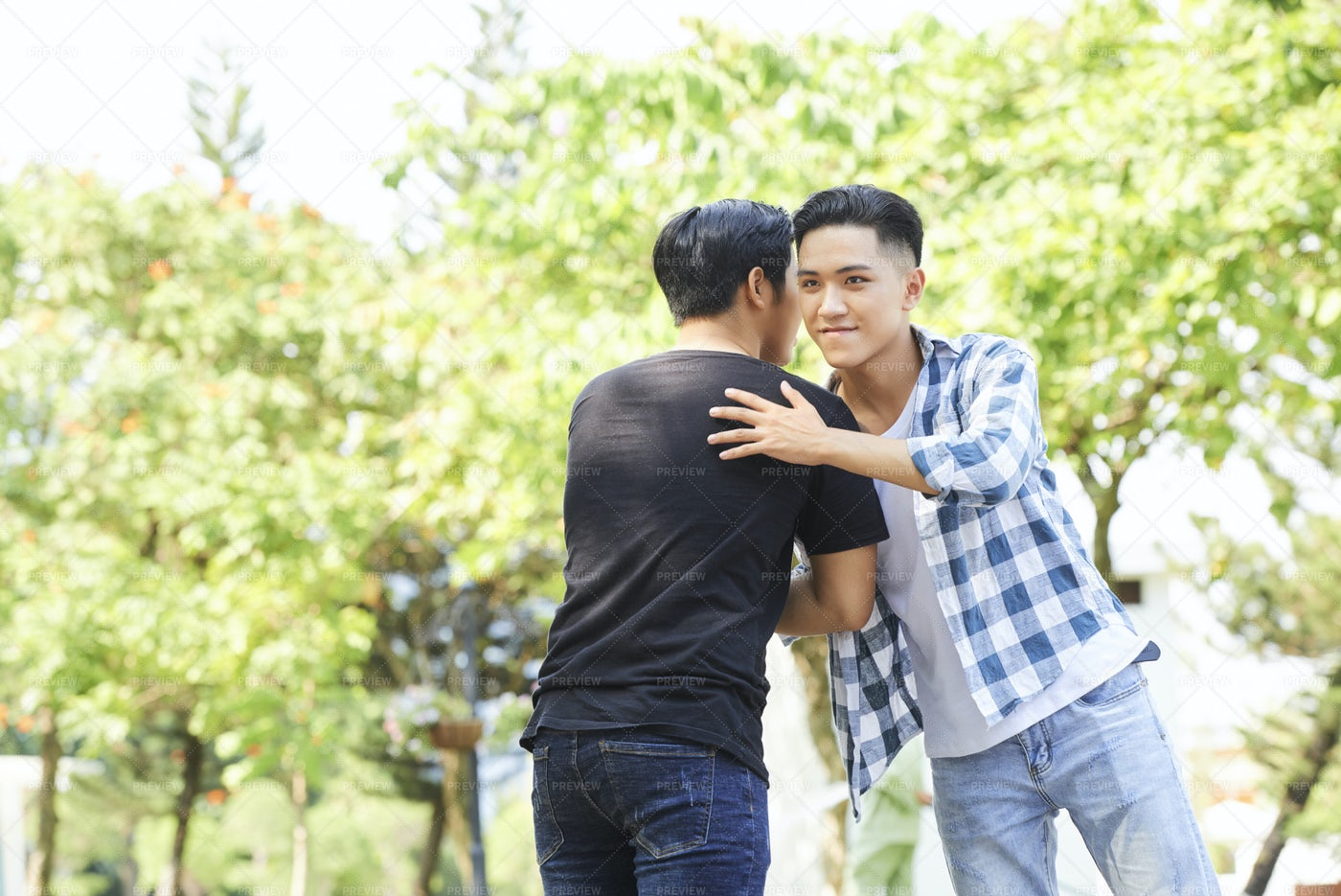 Friendly Handshake Outdoors: Stock Photos