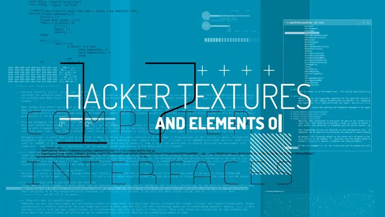 Hacker Textures & Elements: Stock Motion Graphics