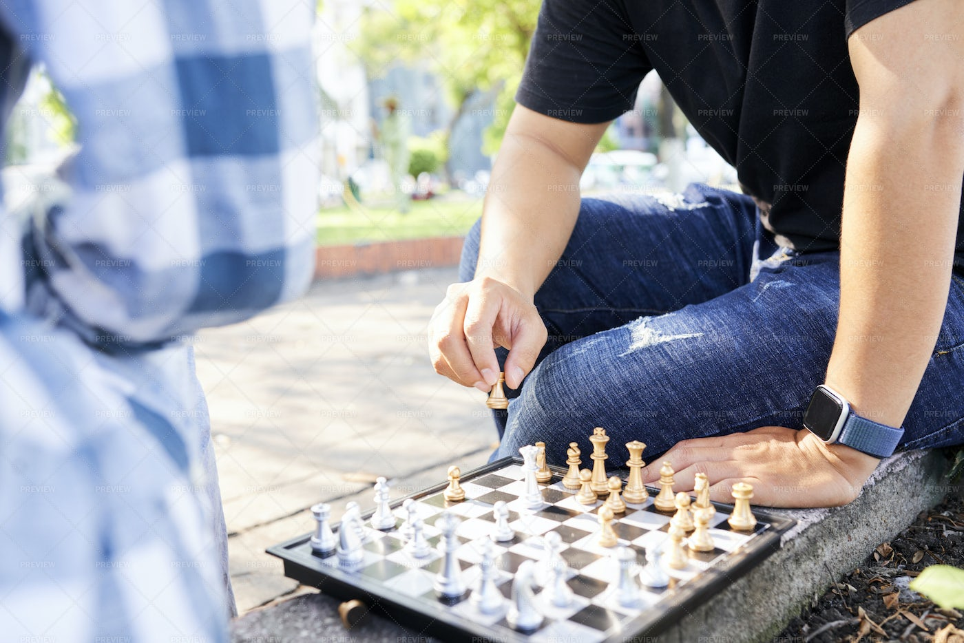 Competitive Game Outdoors: Stock Photos