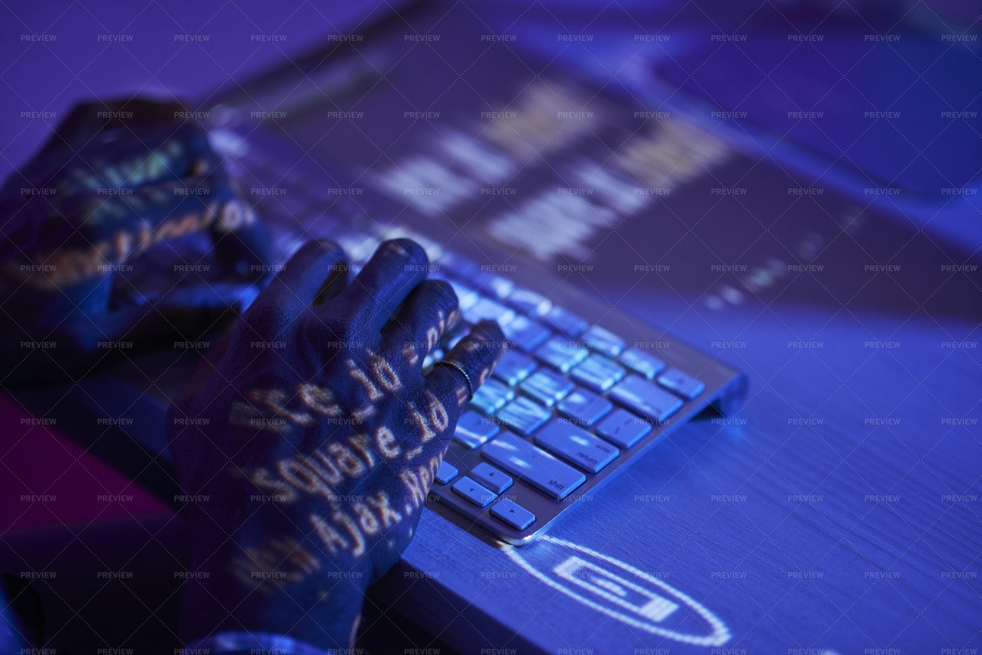 Programmer Typing On Computer: Stock Photos