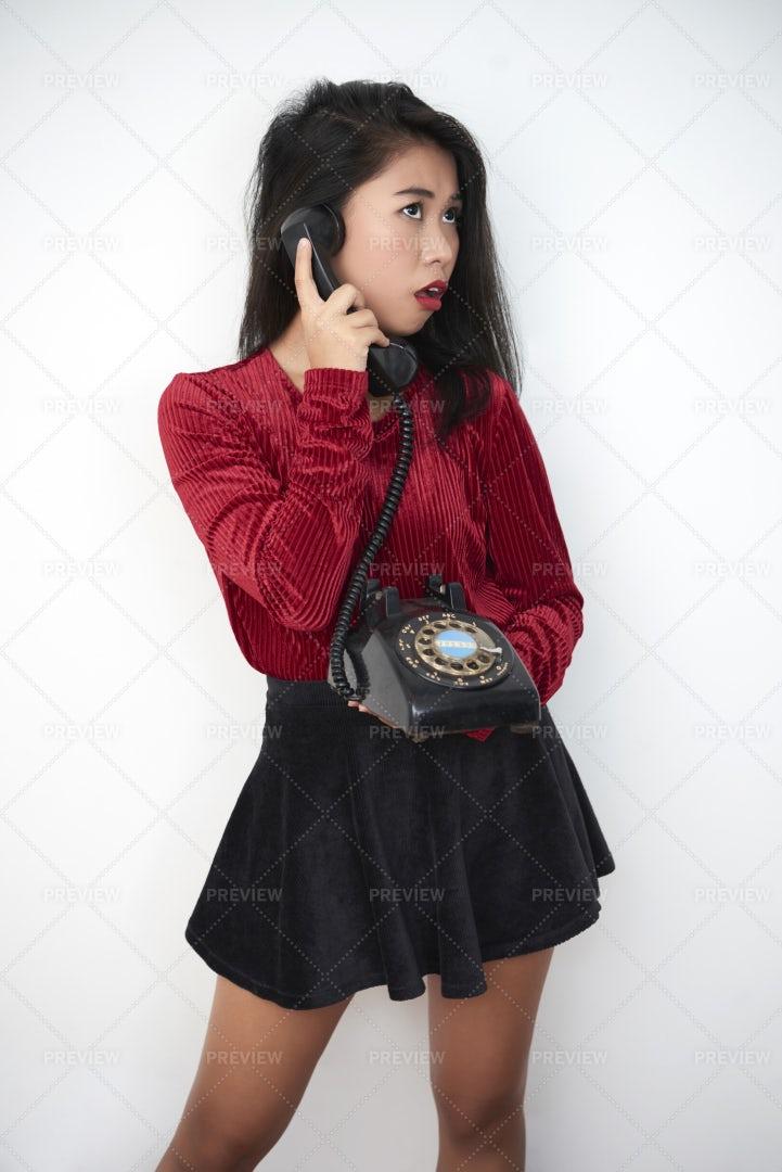 Woman Talking On Phone: Stock Photos