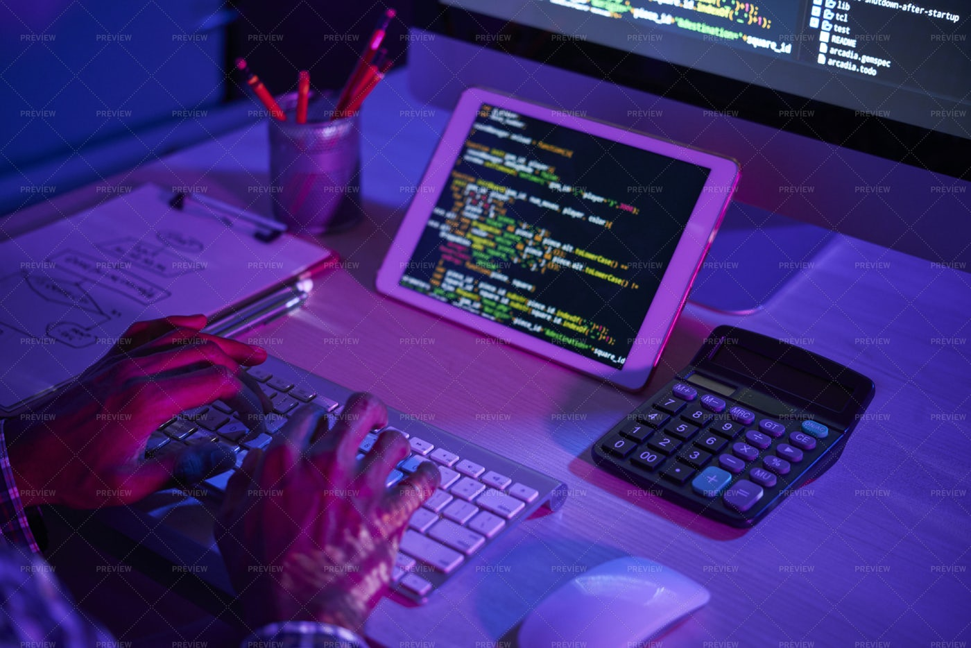 Man Making New Software: Stock Photos