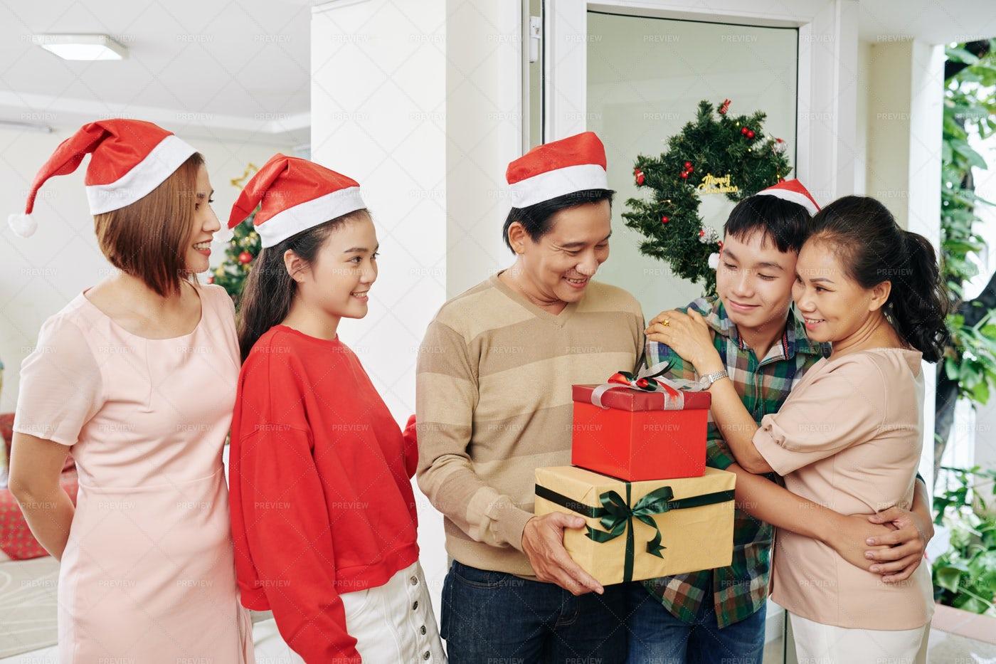 Family Celebrating Christmas: Stock Photos