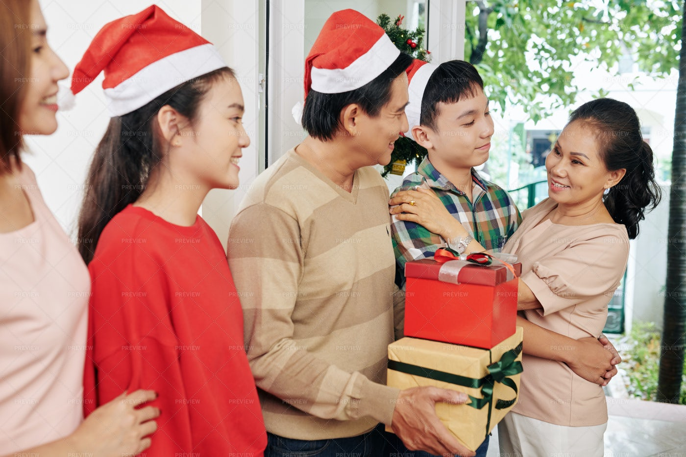 Grandmother Visiting Family On: Stock Photos