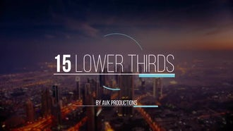 15 Lower Thirds Pack: After Effects Templates
